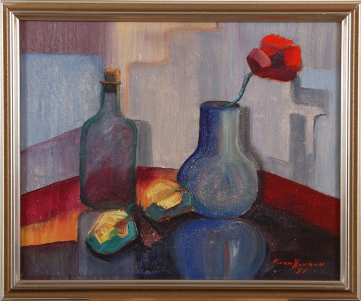 "Sven Herman<br>""Nature Morte"", datiert 1951"